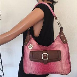 Sharif Leather Bag Ombré Designer Pink Heart Chic